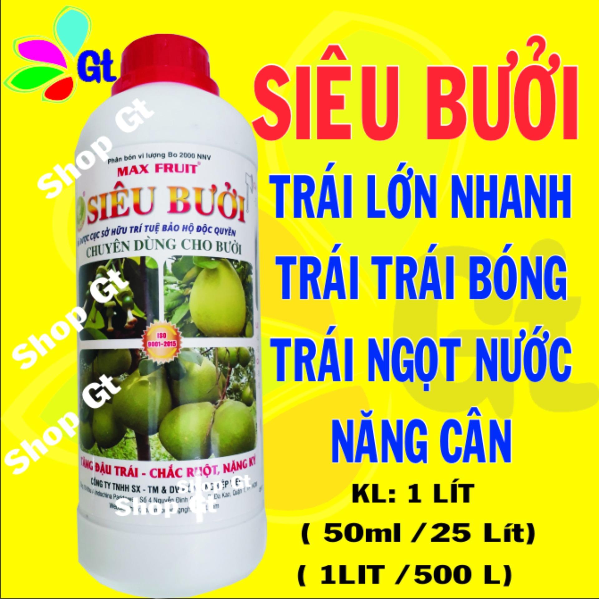 (Shop Gt19) Siêu Bưởi - KL: 1 Lít Tăng đậu trái - chắc ruột, nặng ký, lớn trái nhanh
