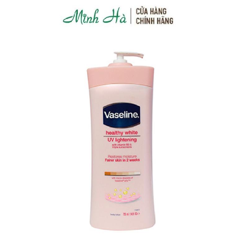 Sữa dưỡng thể Vaseline Healthy White UV Lightening Body Lotion 725ml [Bản Mỹ]