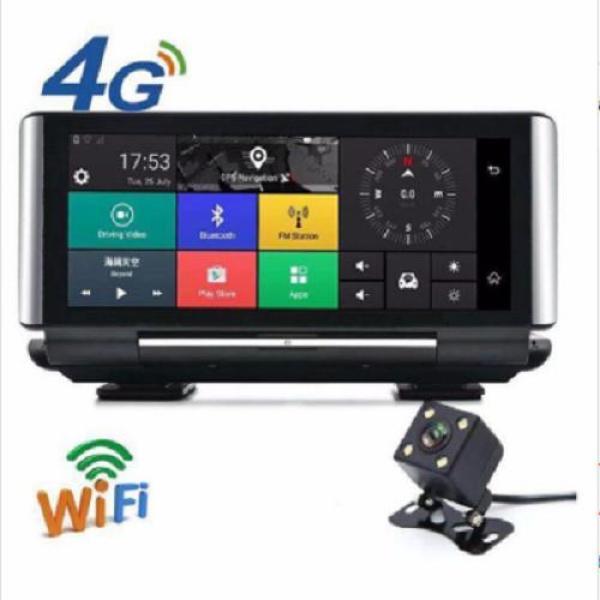 Camera hành trình đặt taplo tích hợp cam lùi K6 Định vị GPS/Wifi/4G giám sát ô tô, xe hơi từ xa