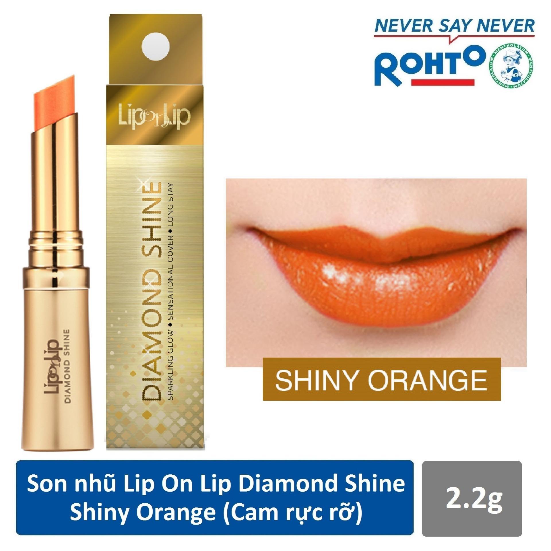 Son nhũ Lip On Lip Diamond Shine Shiny Orange 2.2g (Cam rực rỡ) tốt nhất