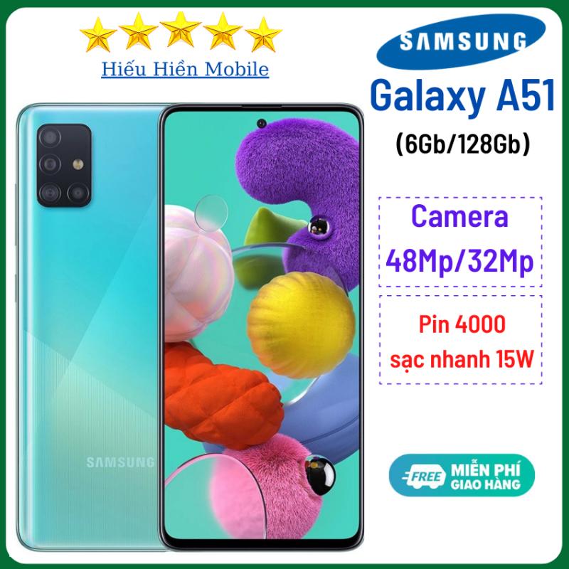 Điện thoại Samsung Galaxy A51 (6Gb/128GB)- Camera sau 48Mp, camera trước 32Mp - Hiếu Hiền- Pin 4000mAh, có sạc nhanh, samsung a51, samsung a51 chính hãng, giá rẻ, - Hàng Chính Hãng