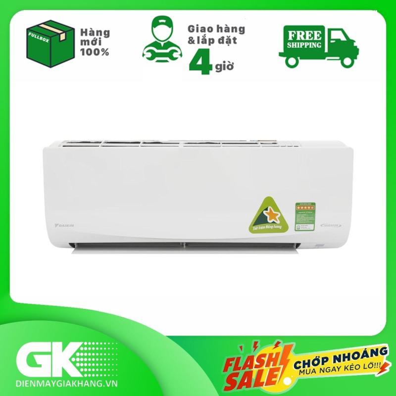 Bảng giá Máy lạnh Daikin Inverter 1HP 9000 BTU FTKQ25SAVMV, làm lạnh tức thì,vận hành êm ái, tiết kiệm điện năng, bảo hành 24 tháng.