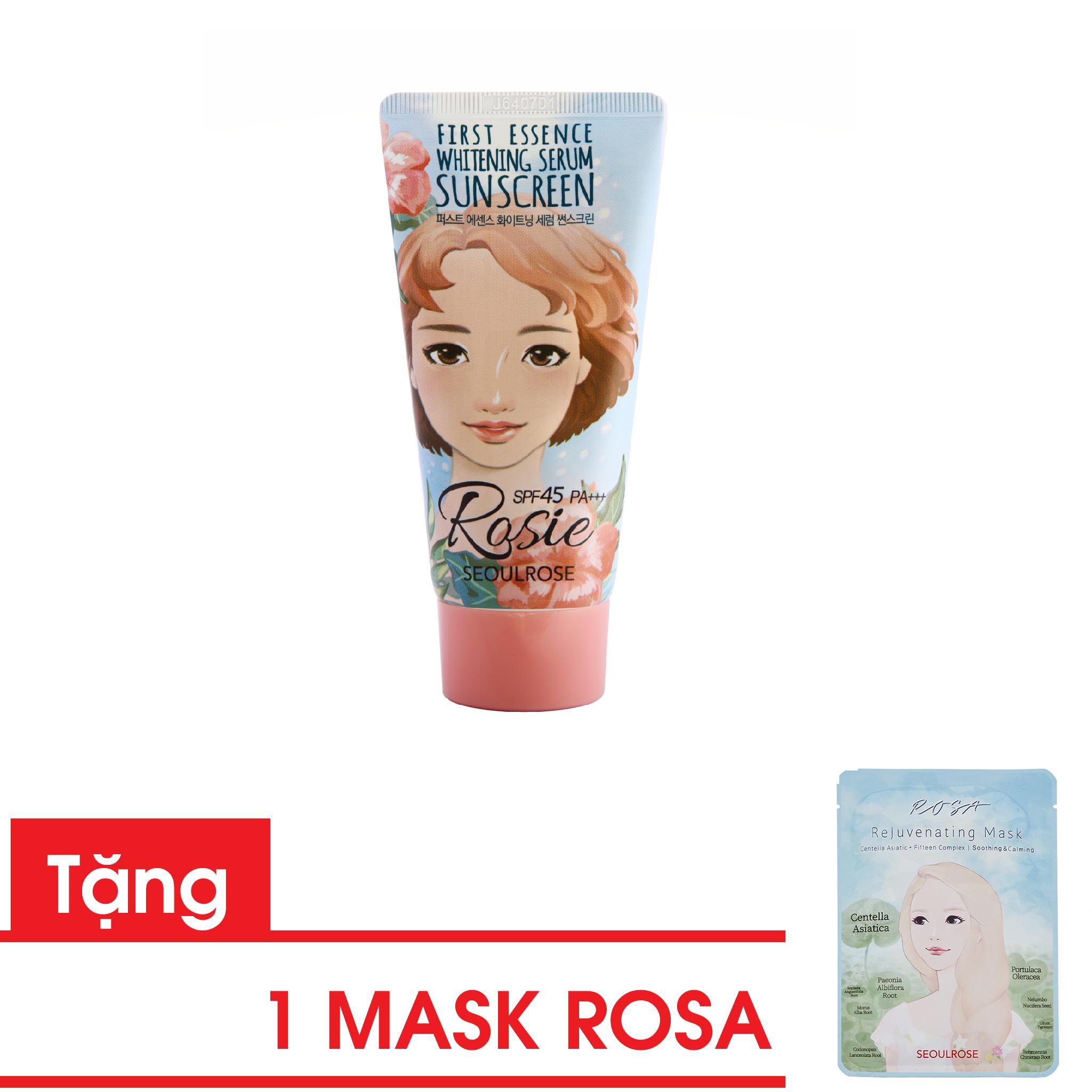 Combo Kem chống nắng Rosie và mask Rosa