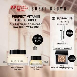 [ĐỘC QUYỀN 9-11 9] Bobbi Brown - Bộ 2 món Kem lót dưỡng da Vitamin Enriched Face Base 50ml + Kem lót & dưỡng ẩm mắt Vitamin Enriched Eye Base 15ml ( Giá thực 3,530,000vnd) thumbnail