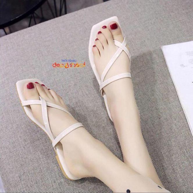 Dép xỏ ngón chéo thời trang hàn quốc có size lớn 41 42 43 MS-12021 giá rẻ
