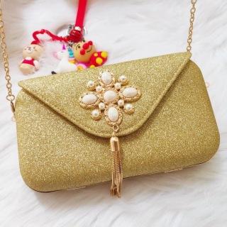 [XẢ KHO 3 NGÀY] [HÀNG ĐẸP] Túi Dạ Hội Nữ Thời Trang - xinh xắn, đính hạt đá sang trọng [Hoaphuongvy] thumbnail