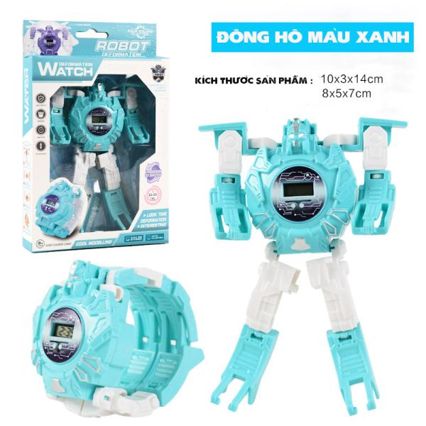 Giá bán Đồng Hồ Điện Tử Cao Cấp Dành Cho Trẻ Em Biến Hình Robot 2 Trong 1 DHROBOT02