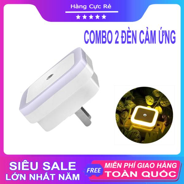 Combo 2 Đèn ngủ led thông minh, cảm biến tự động sáng khi trời tối, hình vuông - Shop Hàng Cực Rẻ