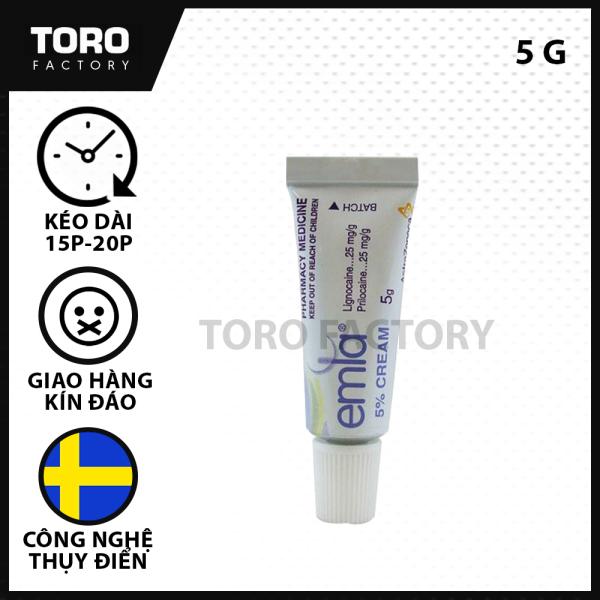 (Chai 5g) Tinh Chất Thụy Điển Emla Cream 5% - tinh chất kéo dài thời gian quan hệ - Tặng 1 hộp BCS nhỏ 3 chiếc [TORO FACTORY] giá rẻ