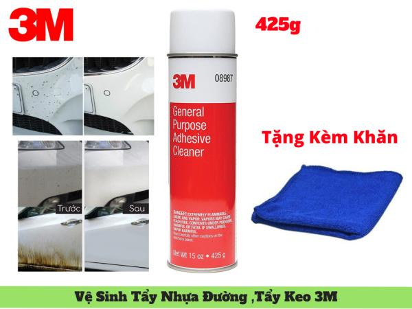 Dung Dịch Tẩy Nhựa Đường 3M 08987 ,Tẩy Keo ,Tẩy Dầu Mỡ 425g Tặng Khăn