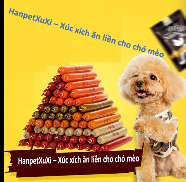 HN- Xuxi - Xúc xích chó mèo có thể ăn liền không phải chế biến / thức ăn chó / thức ăn mèo / bánh thưởng chó mèo / xúc xích thú cưng / xúc xích cho chó mèo / xúc xích mèo / đồ ăn vặt chó