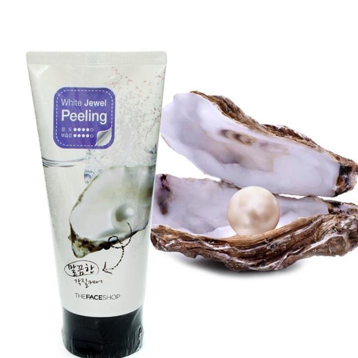 Tẩy Da Chết Ngọc Trai The Face White Jewel Peeling tốt nhất