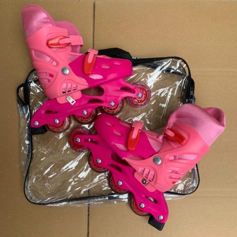 Giá bán Giầy trượt patin người lớn - trẻ em có đèn flash tặng bảo vệ tay chân, mẫu mới 2021