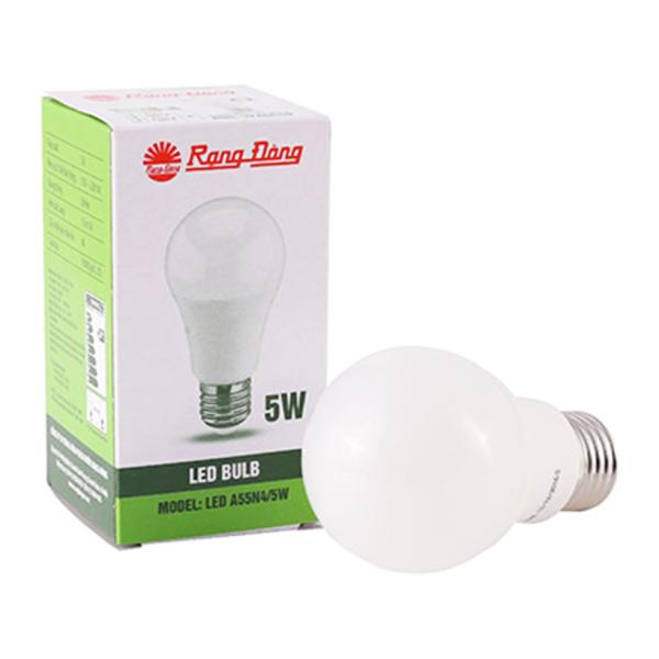 Bóng đèn LED tròn 5W RẠNG ĐÔNG Model A55N4/5W