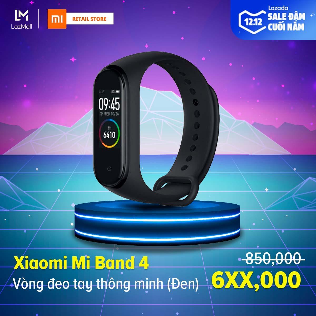 Coupon tại Lazada cho [HÀNG CHÍNH HÃNG - BẢO HÀNH 12 THÁNG] Vòng đeo Tay Thông Minh Xiaomi Mi Band 4 - Màn Hình AMOLED 0.95 Inch - 6 Chế độ Tập Luyện - Hỗ Trợ Tiếng Việt - Chống Nước 50m
