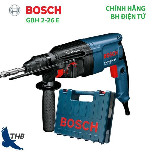 [Trả góp 0%] Máy khoan bua Máy khoan bê tông Bosch GBH 2-26 E Công suất 800W Bảo hành điện tử 12T