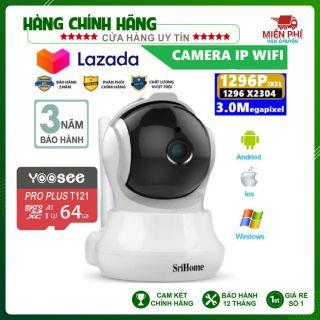 Camera Srihome SH020 - 3MP FHD - Tặng kèm thẻ nhớ thumbnail