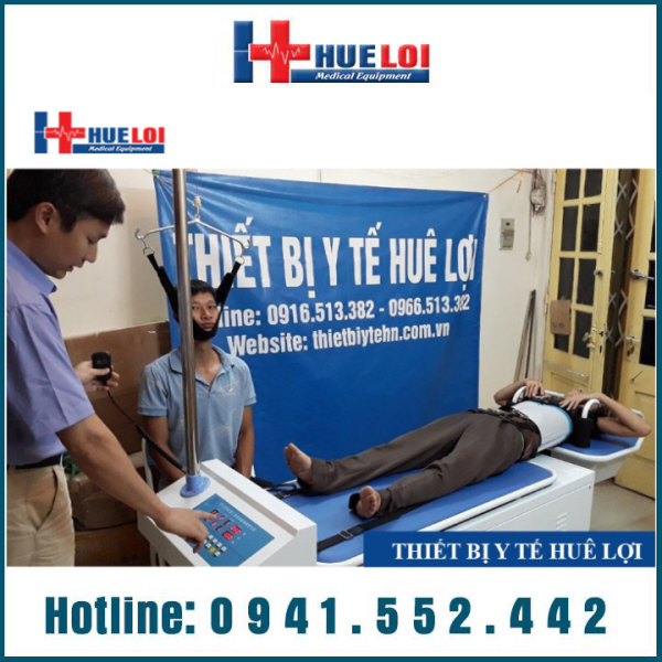 Giường kéo giãn cột sống cổ và thắt lưng bằng điện cao cấp