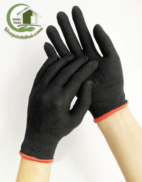 [HCM]Găng tay thun co giãn làm việc bao tay làm vườn sửa chữa dọn dẹp -  Thun trơn màu đen [ 1 đôi ]