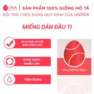 Miếng dán ngực silicon OvaPink Nipple Pad cao cấp siêu dính, thật như da tự nhiên,che đầu ti, nhũ hoa, tái sử dụng 6 tháng 3