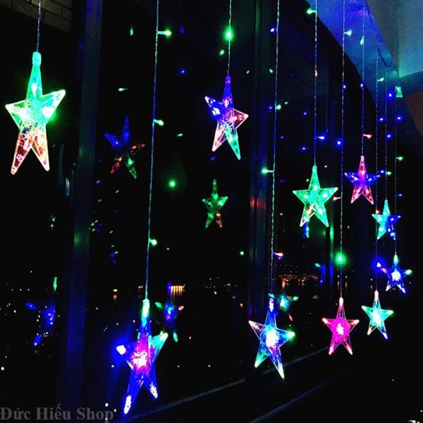 Bảng giá [ Hàng chất lượng ] Dây đèn chớp rèm mành ngôi sao 138 LED, dây đèn LED nháy nhiều màu, đèn trang trí tết, đèn chớp tắt đủ màu, đèn rèm màn ngôi sao  Đức Hiếu Shop