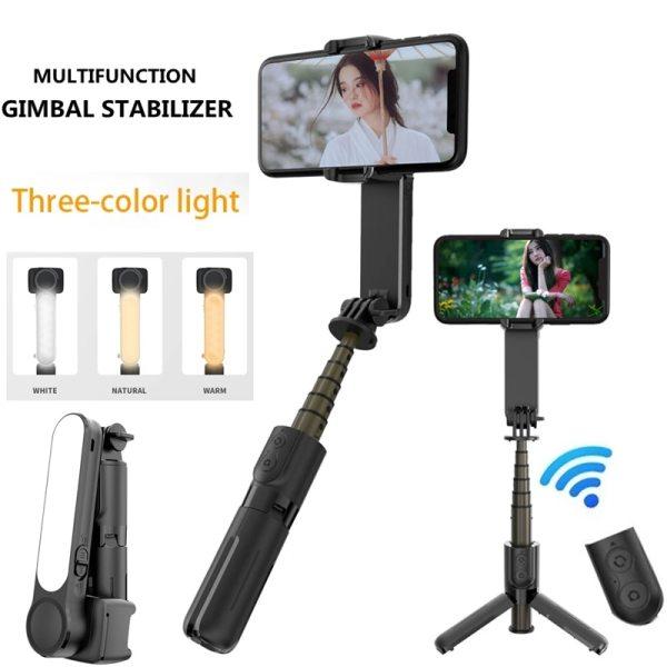 [TOP BÁN CHẠY] Gimbal Chống Rung Điện Tử Thông Minh L09 -Gậy Chụp Hình Đa Chức Năng Cao Cấp Có Bluetooth, Đèn LED 3 Màu Gimbal Cầm Tay Ổn Định Tripod Selfie- Live tream- Vlog - Tiktok Chuyên Nghiệp (Giá Rẻ)