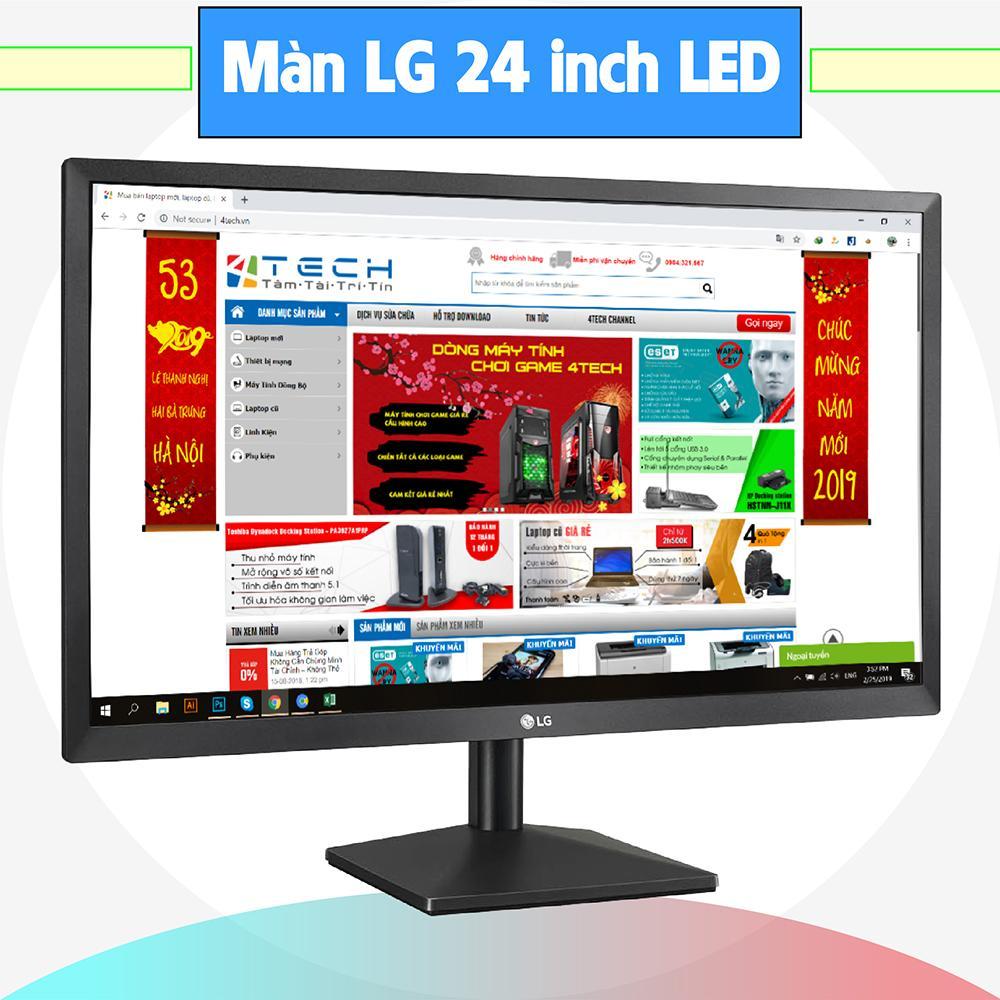Màn hình máy tính LG 24 inch, màn hình máy tính chơi Game giá rẻ, monitor, màn hình Super LED phân giải 1920x1080 HD kết nối Dsub/ HDMI.