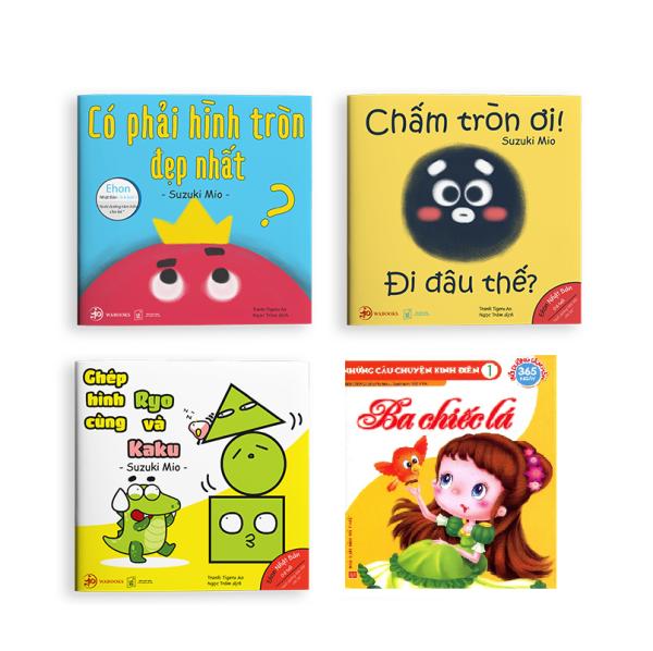 Mua Ehon Nhật Bản NHỮNG ĐIỀU KỲ DIỆU CỦA HÌNH KHỐI : Có Phải Hình Tròn Là Đẹp Nhất? + Ghép Hình Cùng Ryo Và Kaku + Chấm Tròn Ơi Đi Đâu Thế? (Bộ 3 cuốn Phát triển trí tuệ 0 - 6 tuổi - Tặng kèm cuốn Những Câu Chuyện Kinh Điển)