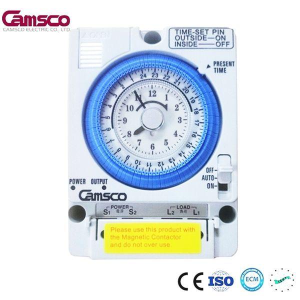 Công tắc hẹn giờ cơ công suất lớn 15A Timer 24H Camsco TB35-N giá rẻ
