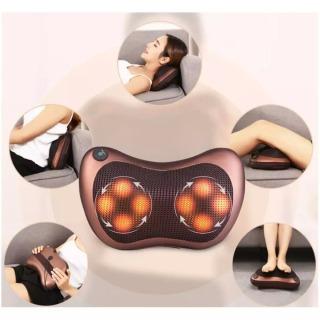 masage - Gối Massage Hồng Ngoại 8 Bi Loại Tốt, Gối Massage Cổ, Gối Mát Xa Hồng Ngoại Cao Cấp. Thiết kế gọn nhẹ, dễ sử dụng với 8 bi hoạt động mạnh mẽ giảm đau, căng thẳng mệt mỏi hiệu quả . Bảo Hành 1 đổi 1. thumbnail