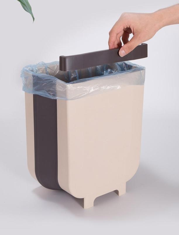 Thùng rác kẹp tủ treo gấp gọn nhà bếp - Thùng rác đa năng gấp gọn