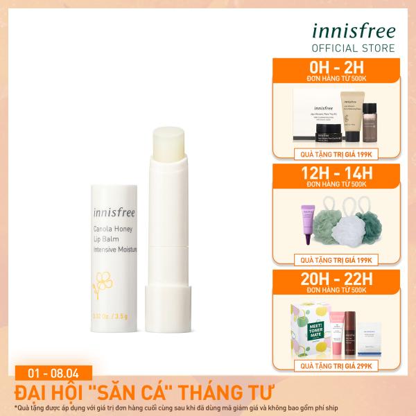 Son dưỡng môi không màu innisfree Canola Honey Lip Balm Deep Moisture 3.5g