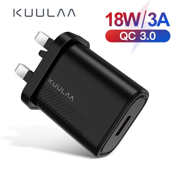 KUULAA Sạc Nhanh 3.0 QC 18W USB US Cho Xiaomi Redmi Note 8 7 QC3.0 Sạc Điện Thoại Tường USB Sạc Nhanh Cho Samsung S10