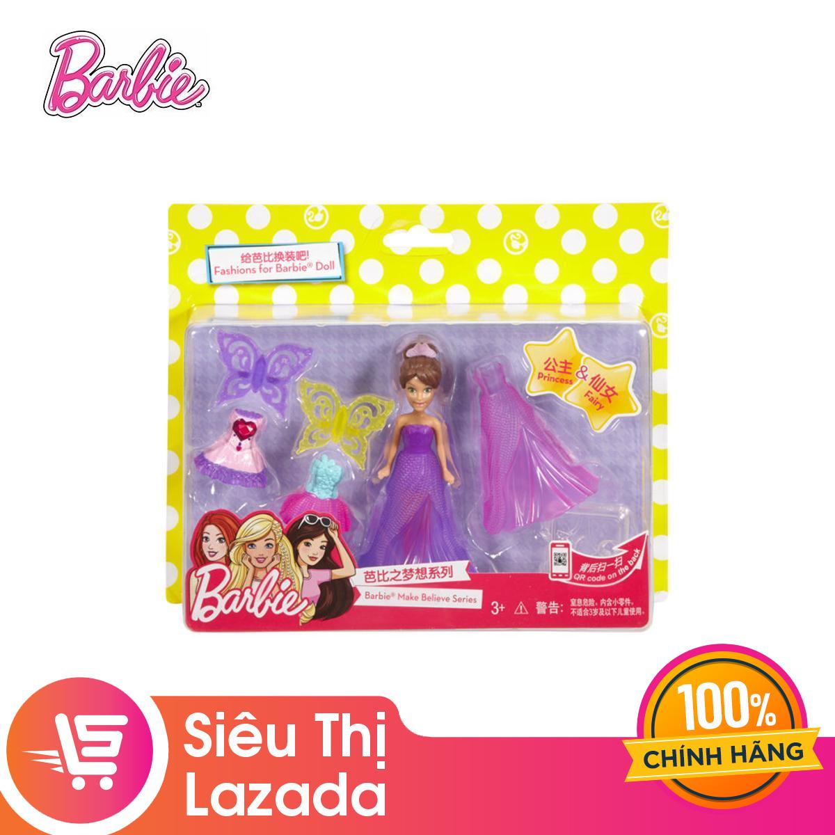 Mã Khuyến Mãi tại Lazada cho [Voucher Freeship 30k]Búp Bê Thời Trang Tí Hon Barbie FMK92