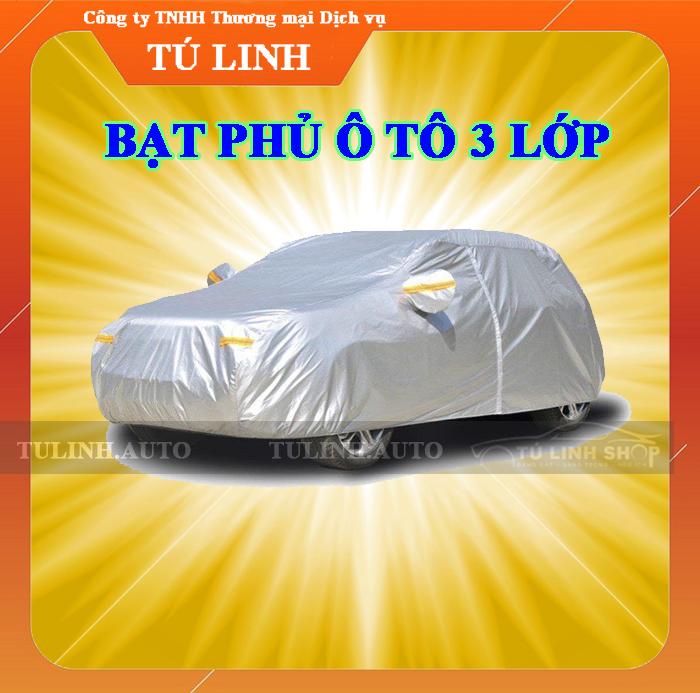 Bạt phủ toàn xe 3 LỚP cao cấp chỗng xước chống nắng chống cháy cho ô tô - CarSun Store