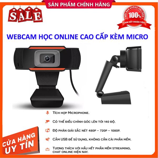 Bảng giá Webcam HỌC ONLINE Trên Máy Tính PC, Laptop Livestream Có Mic Full HD PC Gaming 720P High Solution CHÍNH HÃNG Phong Vũ
