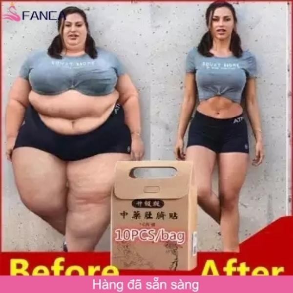 Hộp 10 Miếng Dán Rốn Tan Mỡ Trung Y Slimming Patch - Thảo Dược Nội địa Trung