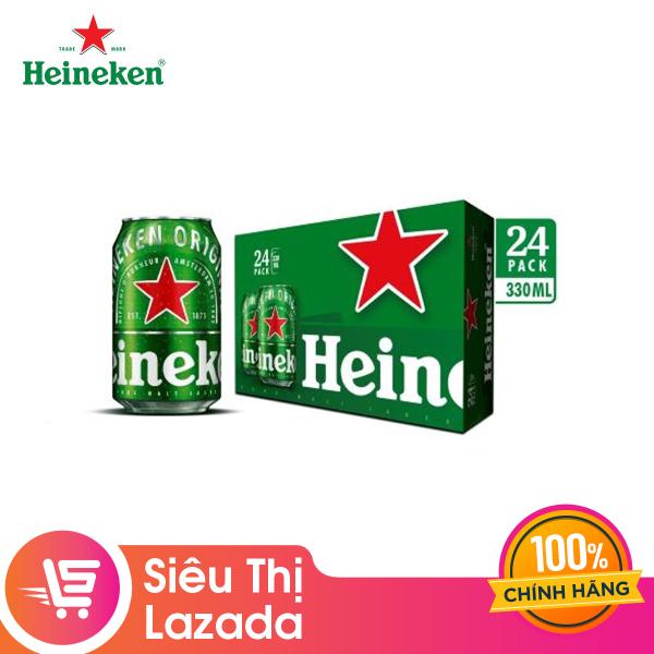 [FREESHIP 44K HCM & HN] Thùng 24 lon thường Heineken (330ml/lon)