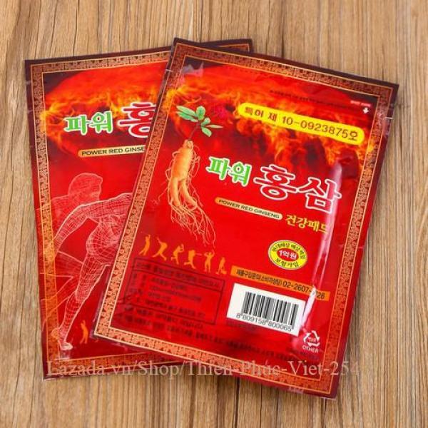 BỘ 2 CAO DÁN HỒNG SÂM ĐỎ KOREA TÚI 20 MIẾNG 93 x130mm giá rẻ