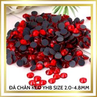 Đá chân keo YHB chân lưới màu Đỏ, 188viên size 2.0mm đến 4.8mm trang trí móng, gắn đính đá móng tay móng chân cao cấp, đá khối đính nail cao cấp thumbnail