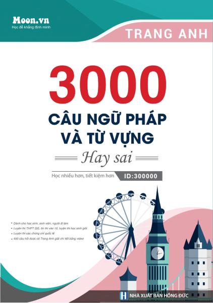 Sách 3000 Câu Ngữ Pháp - Từ Vựng Tiếng Anh Hay Sai - Newshop