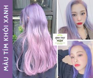 [FREESHIP] [Siêu Thơm]Th uốc nhuộm tóc màu TÍM KHÓI XANH -không cần Tẩy-1 đập ăn ngay (kèm trợ dưỡng) thumbnail