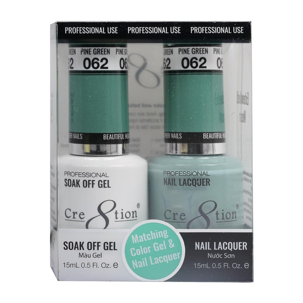 Sơn móng tay Cre8tion Matching Duo Gel  Pine Green 062 tốt nhất