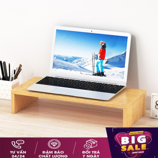 Kệ để màn hình máy tính - Kệ để màn hình -Kệ để đồ Decor - Kệ gỗ để màn hình máy tính, laptop nâng cao màn hình chống gù lưng, chống đau vai, kệ máy tính để bàn có hộc để tài liệu (Nhiều màu) thumbnail