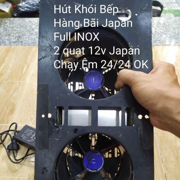Quạt hút khói bếp 12v full INOX hàng tuyển bãi JAPAN
