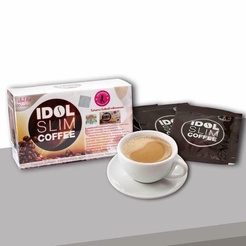 Cà phê Idol Slim Coffee hàng chuẩn loại 1 (Hộp 10 gói x 15g) nhập khẩu