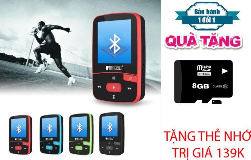 Máy nghe nhạc MP3/MP4 thể thao bluetooth  Ruizu X50 - Mini Sport Mp3 + Thẻ nhớ 8 Gb Class 10