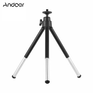 Andoer Mini Tripod 2-Section Extendable Desktop Tripod Stand Holder 1 4 Inch Screw Mounts for Phone ILDC Max. Load 0.5kg Black thumbnail