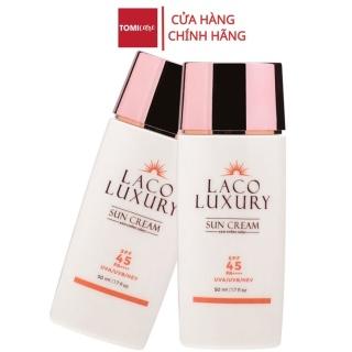 Kem chống nắng vật lý và hoá học Laco Luxury Sun Cream 50ml SPF45 PA++++ Lên Tone, Chống UVA, UVB, Không Nhờn, Kiềm Dầu thumbnail