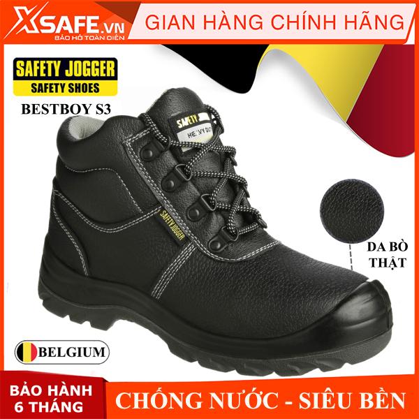 Giày bảo hộ lao động nam Jogger Bestboy S3 cổ cao, da bò thật, chống nước tiêu chuẩn bảo hộ S3 Châu Âu, kiểu dáng thể thao cao cấp - Giày SafetyJogger chính hãng